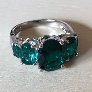 Jewelry - Greenish/Blue 4 Stone Sterling Sliver Ring